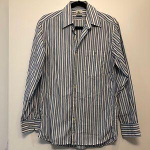 Blue & White Lacoste Dress Shirt